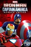 Iron Man & Captain America Heroes United (2014) Poster